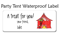 Party Tent Waterproof Label