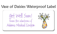 Vase Of Daisies Waterproof Label