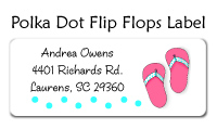 Polka Dot Flip Flops Label
