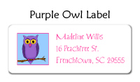 Purple Owl Thank You Note