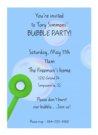 Bubble Party Invitation