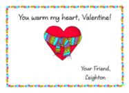 Heart with Scarf Valentine Card