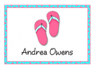 Polka Dot Flip Flops Stationery