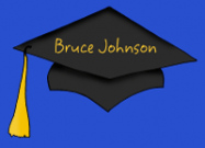 Blue Graduation Thank You Note