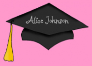 Pink Graduation Thank You Note