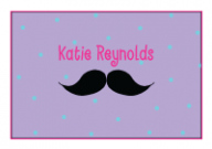 Girly Mustache Thank You Note