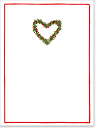 Buy personalized e greeting cards - Holly Heart Personalized Christmas Card