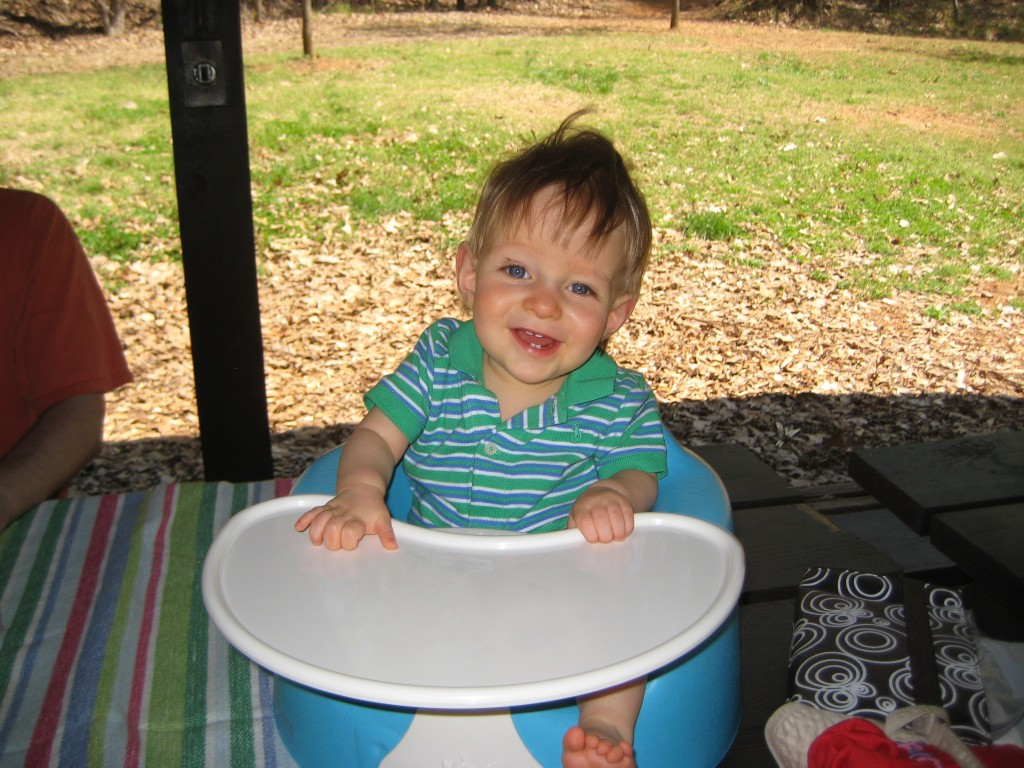 Corban on the family picnic.
