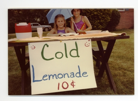 amy stand Emily's lemonade stand at Amy Adele