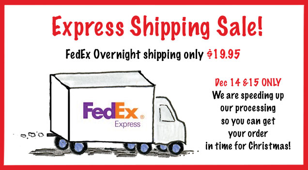 Overnight Shipping Sale!
