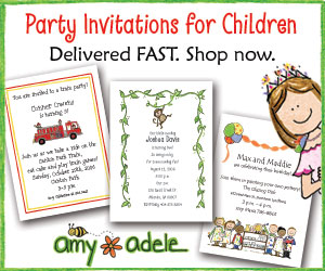 Personalized Party Invitations for Kids!