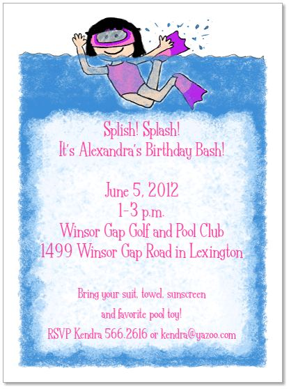 Dont Have a Pool Throw a Pool Party Anyway Stationery tips – Hotel Party Invitations